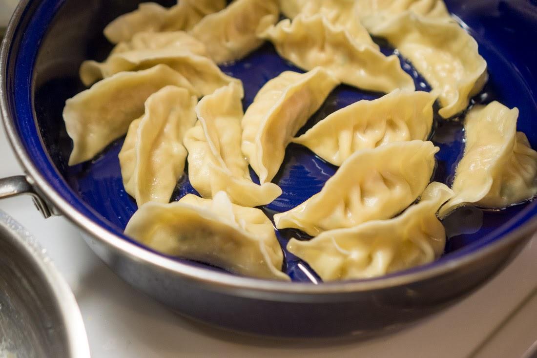 Juicy Pan-Fried Chinese Dumplings with Handmade Wrappers (Guo Tie)