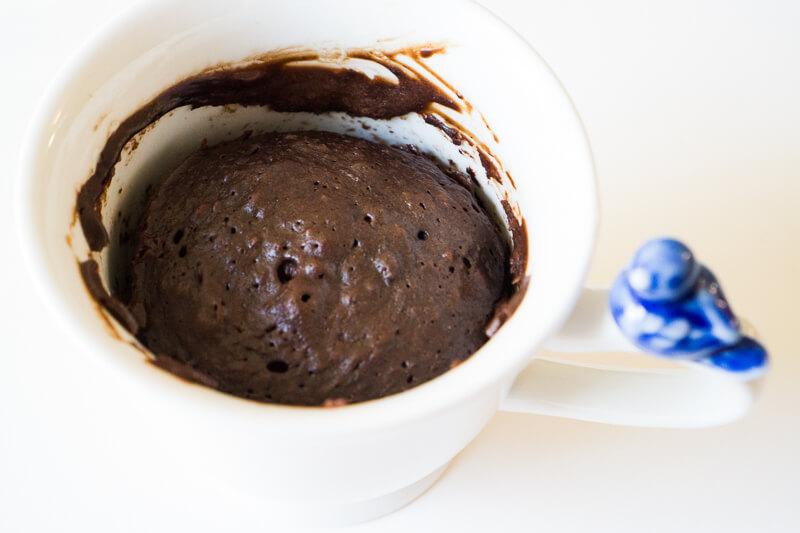 Chocolate Mug Cake, Straight from the Microwave
