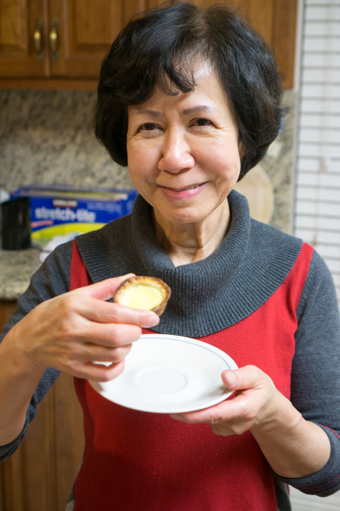 Mom, with egg tart
