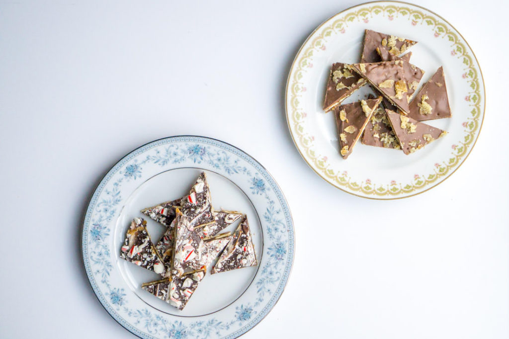 Gingerbread and Peppermint Cracker Toffee