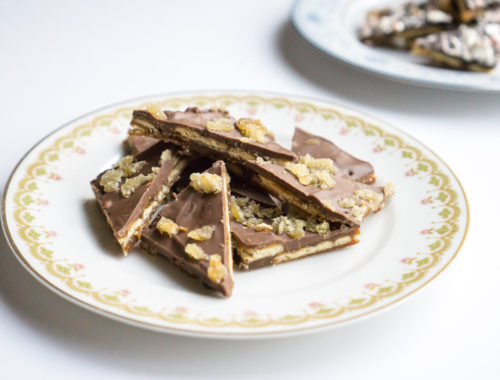 Gingerbread Cracker Toffee