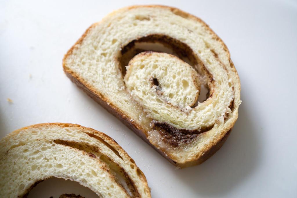 Japanese milk bread with molten cinnamon-sugar pockets!