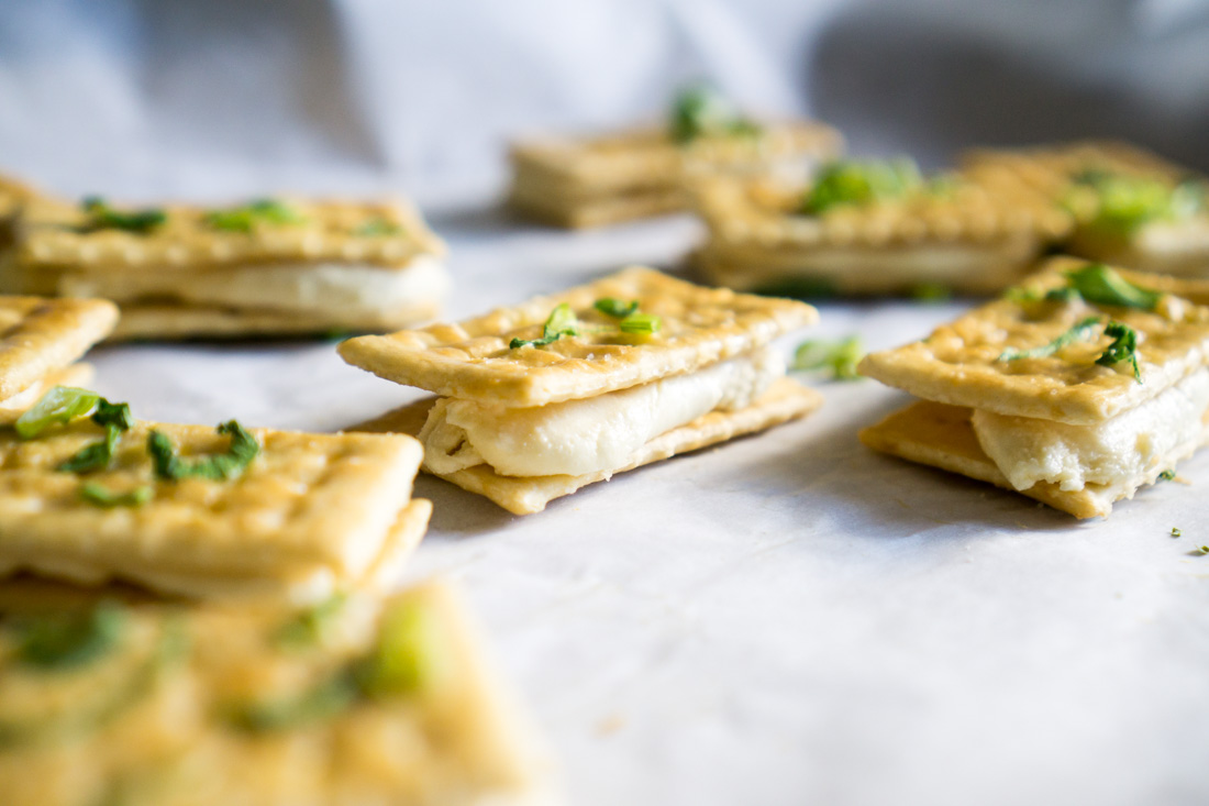 Scallion Nougat Crackers