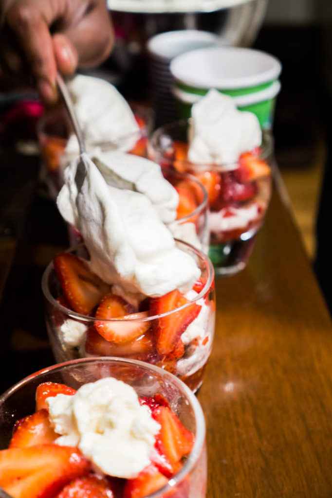 strawberry coppetta parfait